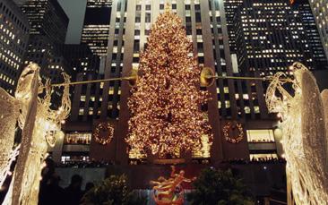 Juletræet tændes i New York